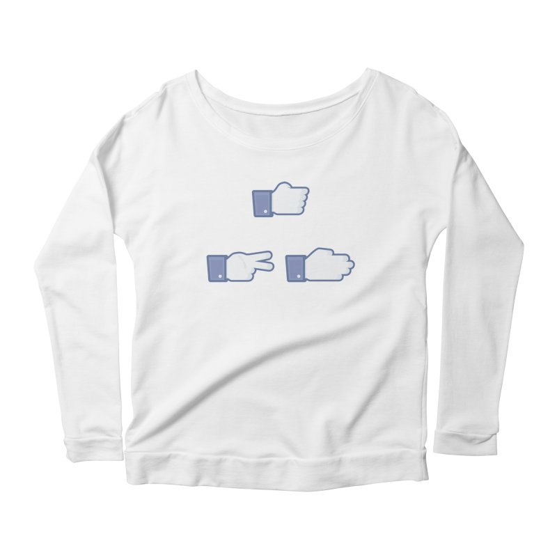 I Like Rock, Paper, Scissors Women's Scoop Neck Longsleeve T-Shirt by Byway Design