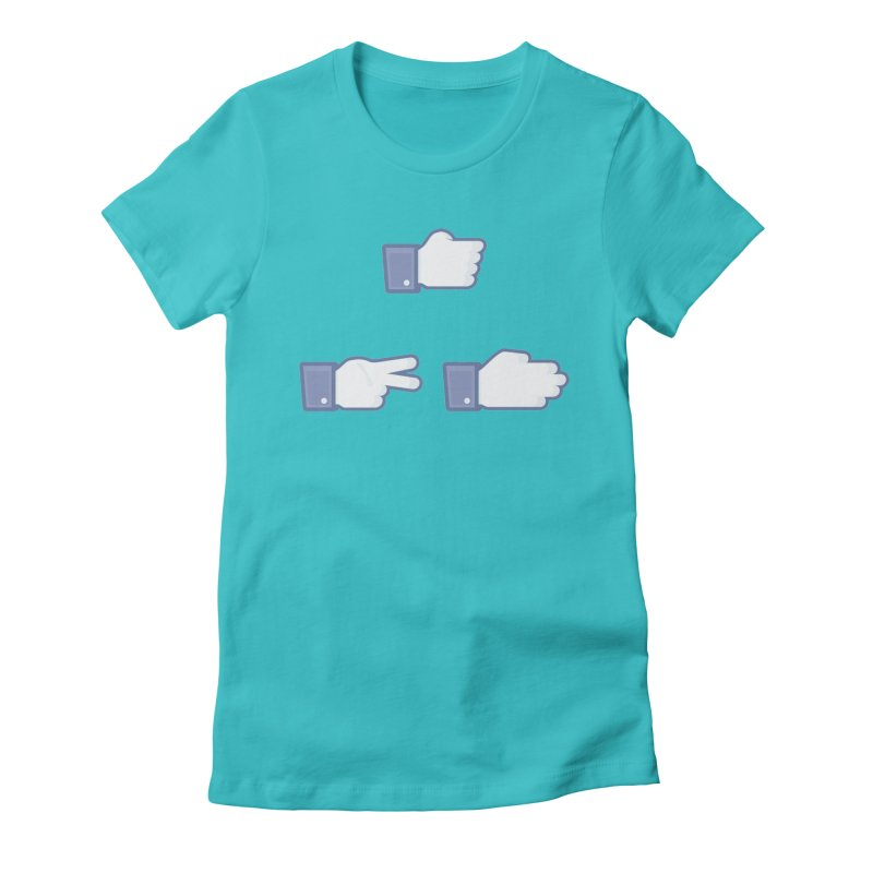 I Like Rock, Paper, Scissors Women's Fitted T-Shirt by Byway Design