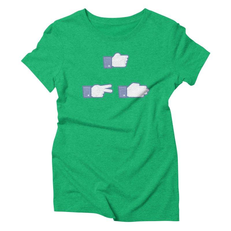 I Like Rock, Paper, Scissors Women's Triblend T-Shirt by Byway Design