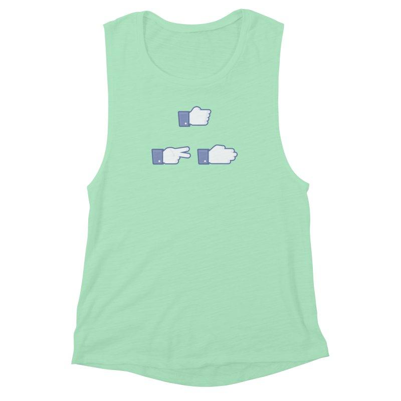 I Like Rock, Paper, Scissors Women's Muscle Tank by Byway Design