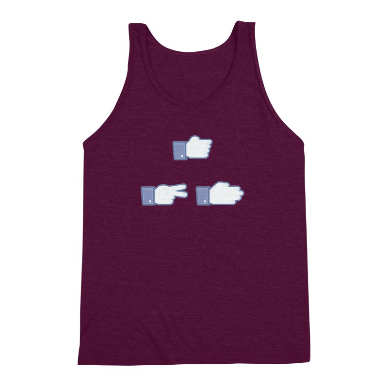 I Like Rock, Paper, Scissors Men's Triblend Tank by Byway Design