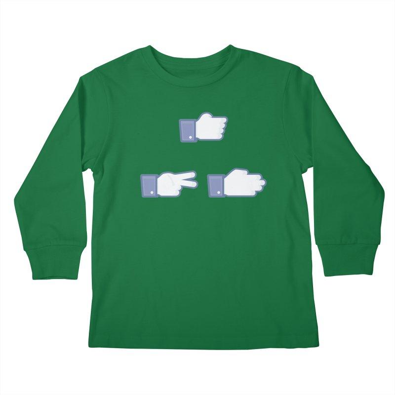 I Like Rock, Paper, Scissors Kids Longsleeve T-Shirt by Byway Design