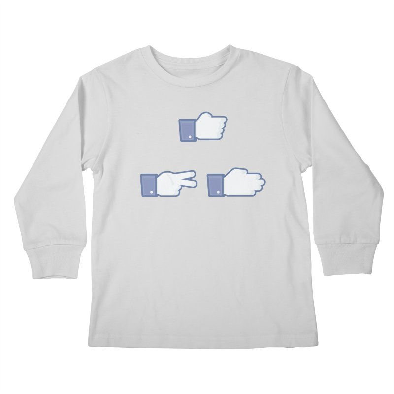 I Like Rock, Paper, Scissors Kids Longsleeve T-Shirt by Byway Design