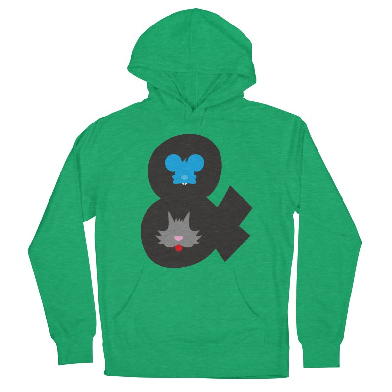 Cat & Mouse Men's Pullover Hoody by Byway Design