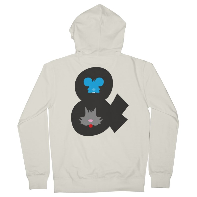 Cat & Mouse Men's Zip-Up Hoody by Byway Design