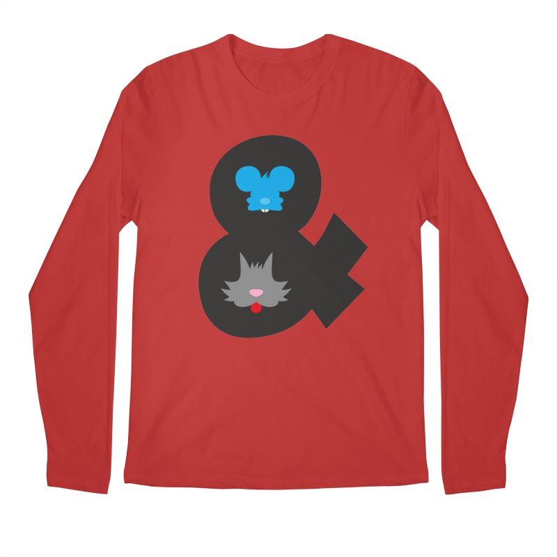 Cat & Mouse Men's Regular Longsleeve T-Shirt by Byway Design