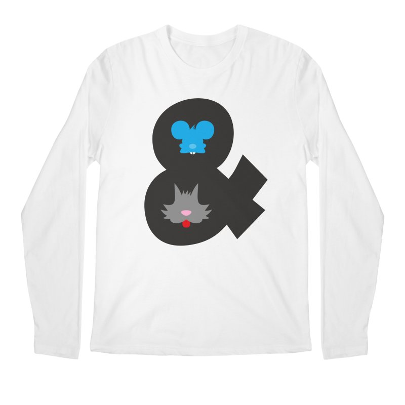 Cat & Mouse Men's Regular Longsleeve T-Shirt by Byway Design