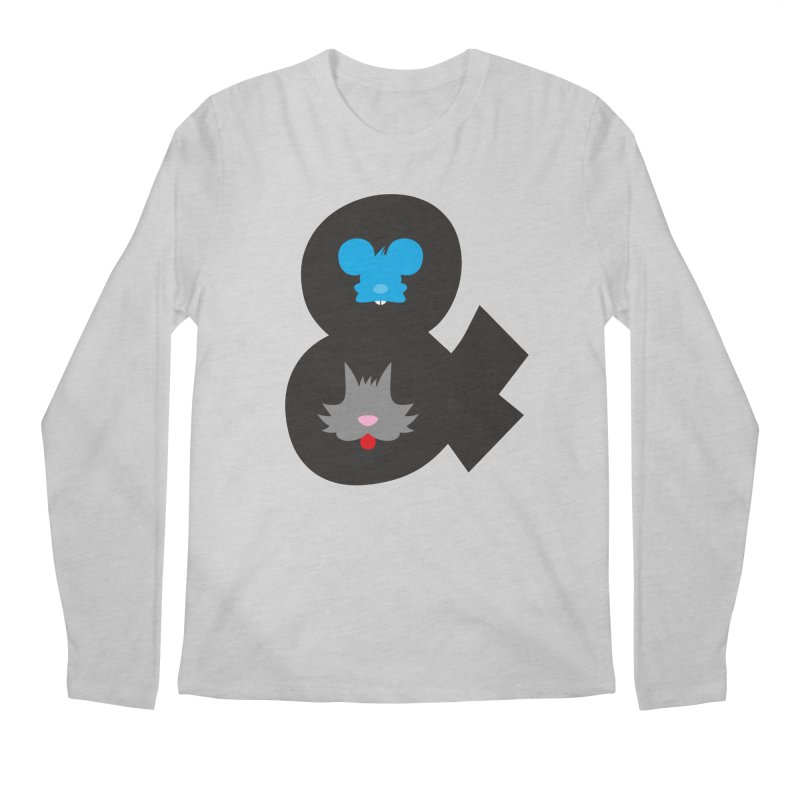 Cat & Mouse Men's Longsleeve T-Shirt by Byway Design
