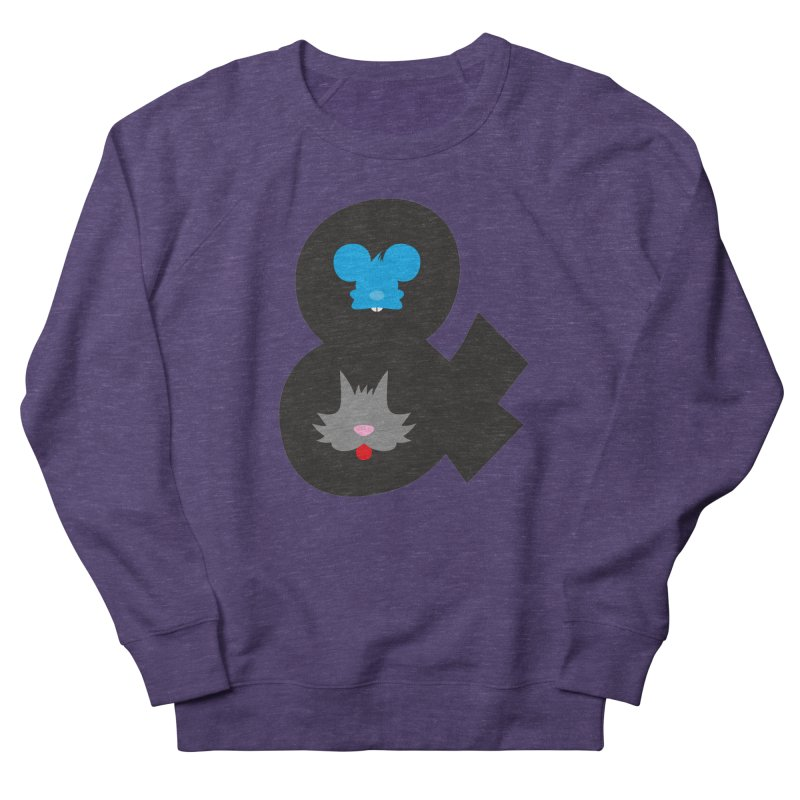 Cat & Mouse Women's French Terry Sweatshirt by Byway Design