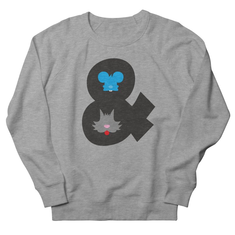 Cat & Mouse Men's French Terry Sweatshirt by Byway Design