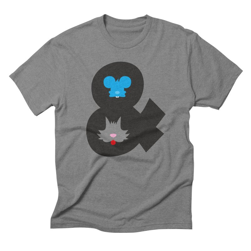Cat & Mouse Men's Triblend T-shirt by Byway Design