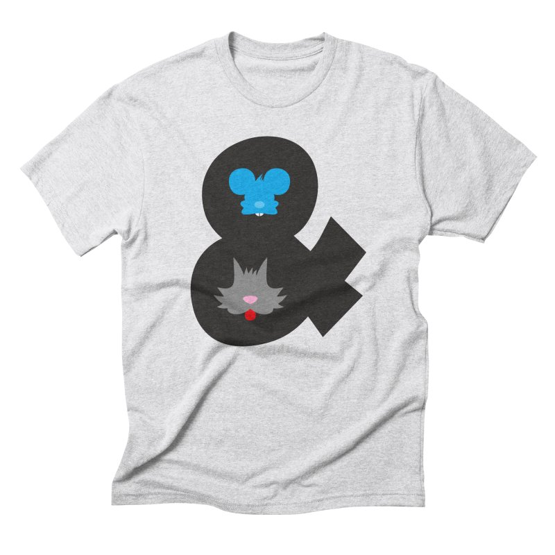 Cat & Mouse Men's Triblend T-Shirt by Byway Design