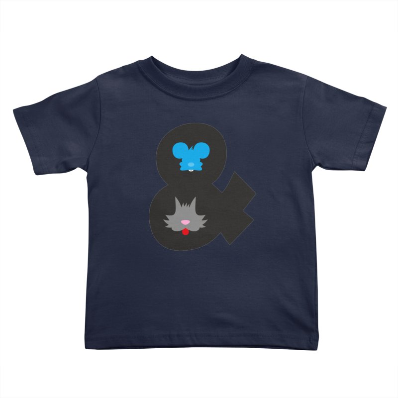 Cat & Mouse Kids Toddler T-Shirt by Byway Design