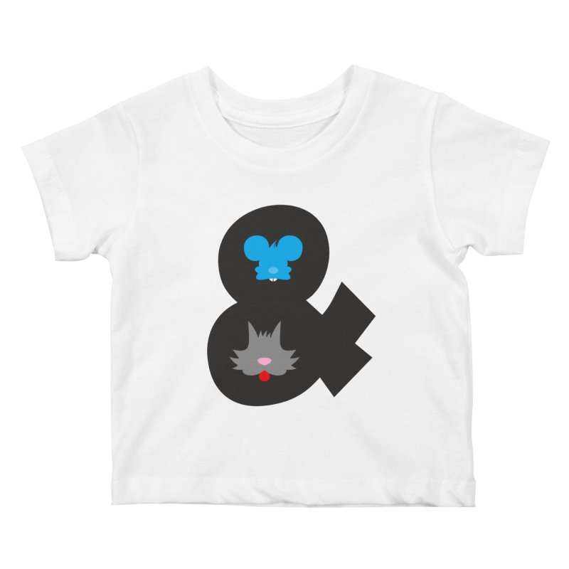 Cat & Mouse Kids Baby T-Shirt by Byway Design