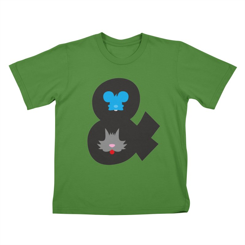 Cat & Mouse Kids T-Shirt by Byway Design