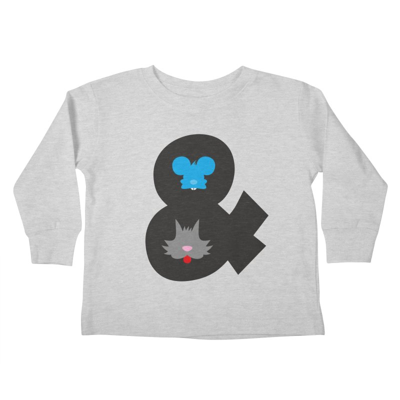 Cat & Mouse Kids Toddler Longsleeve T-Shirt by Byway Design