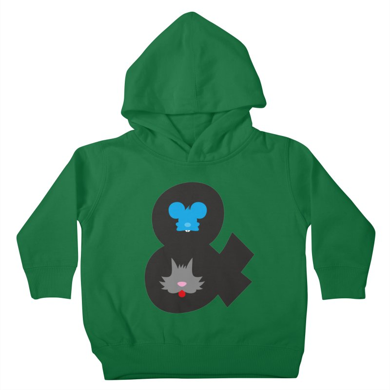 Cat & Mouse Kids Toddler Pullover Hoody by Byway Design