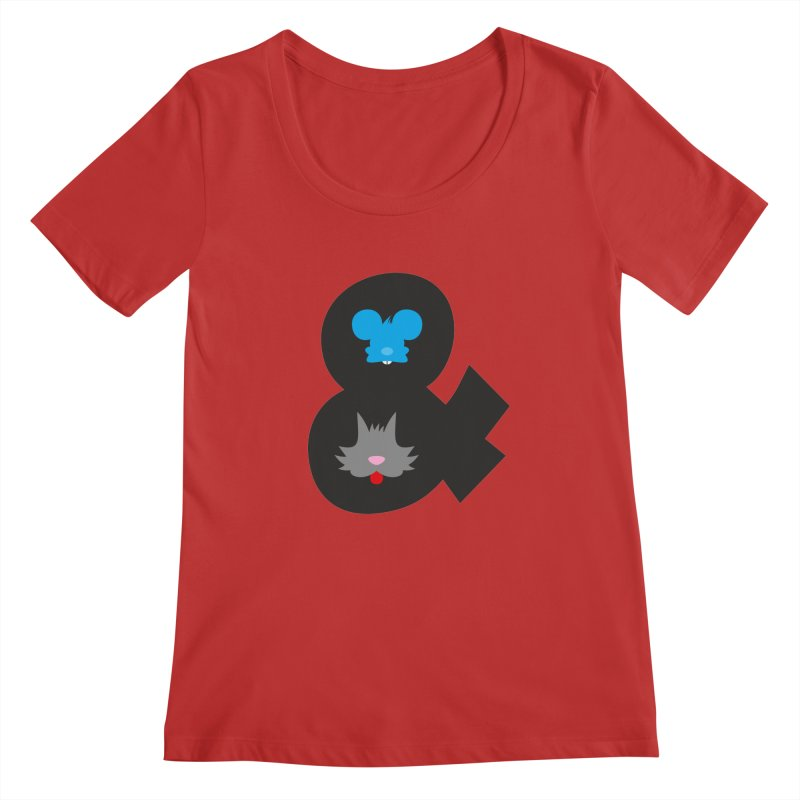 Cat & Mouse Women's Scoopneck by Byway Design