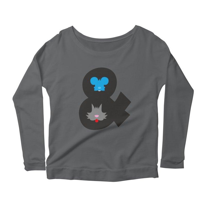 Cat & Mouse Women's Longsleeve Scoopneck  by Byway Design
