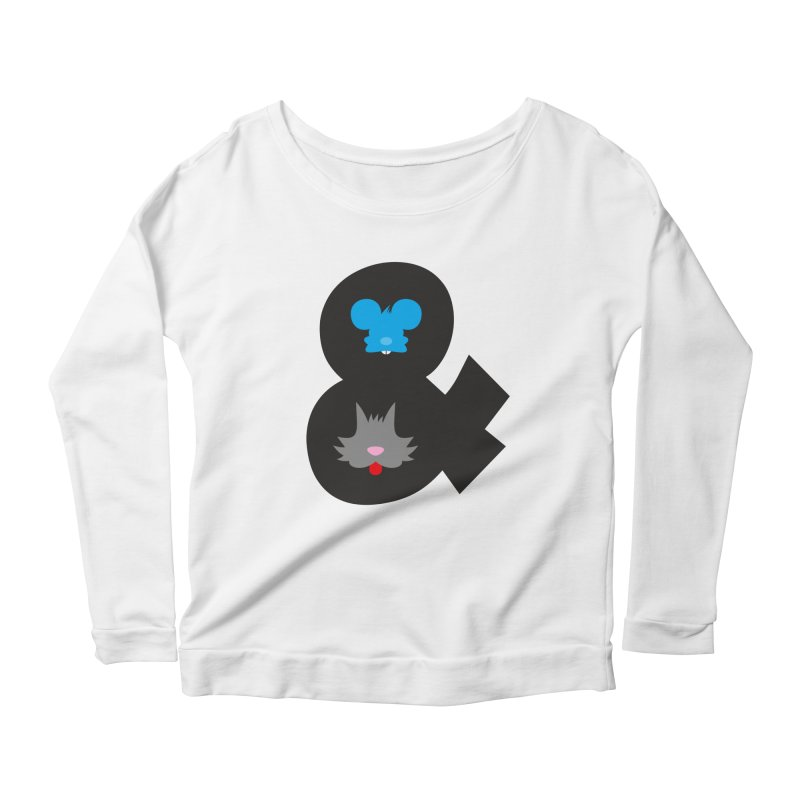 Cat & Mouse Women's Scoop Neck Longsleeve T-Shirt by Byway Design
