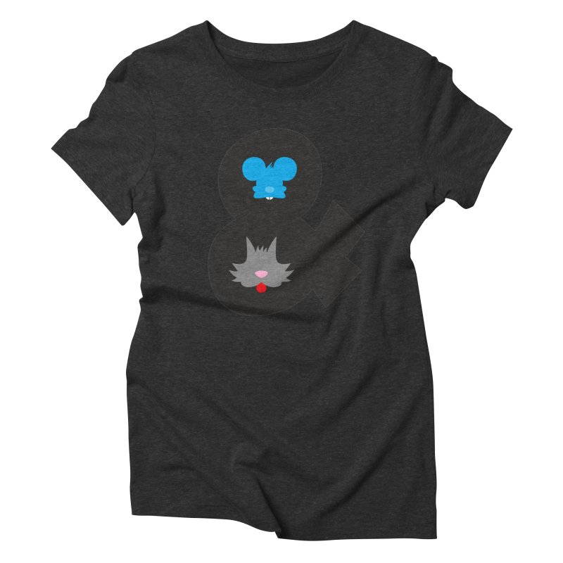 Cat & Mouse Women's Triblend T-Shirt by Byway Design