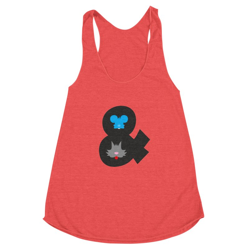 Cat & Mouse Women's Racerback Triblend Tank by Byway Design