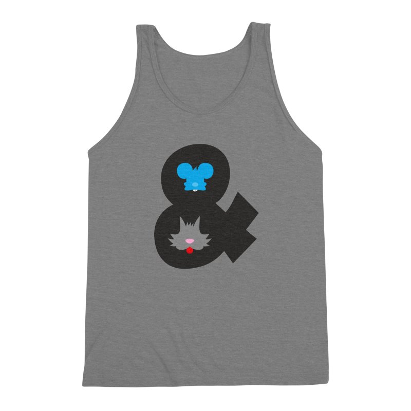 Cat & Mouse Men's Triblend Tank by Byway Design