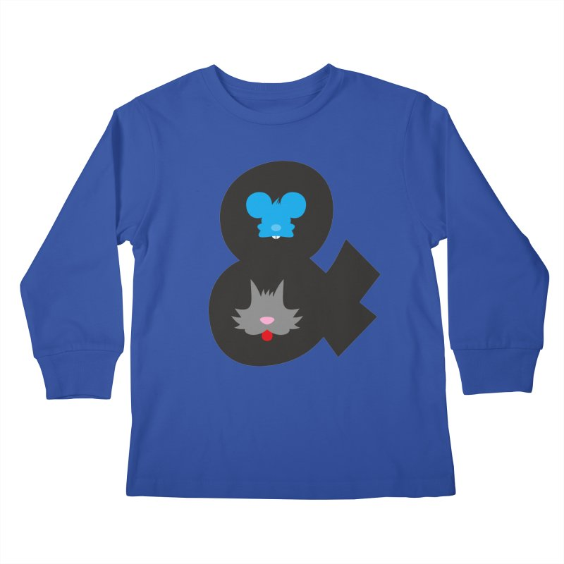 Cat & Mouse Kids Longsleeve T-Shirt by Byway Design