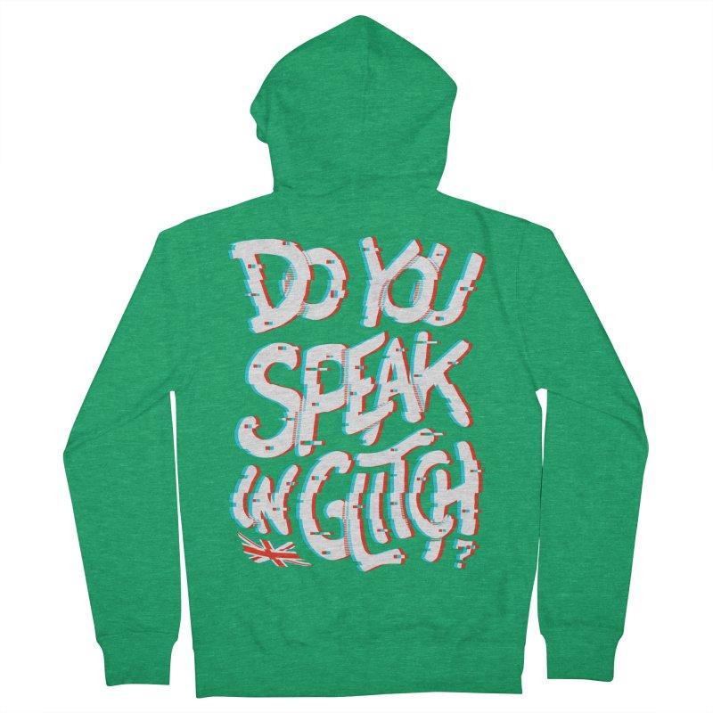 Do You Speak In Glitch Men's Zip-Up Hoody by c0y0te7's Artist Shop