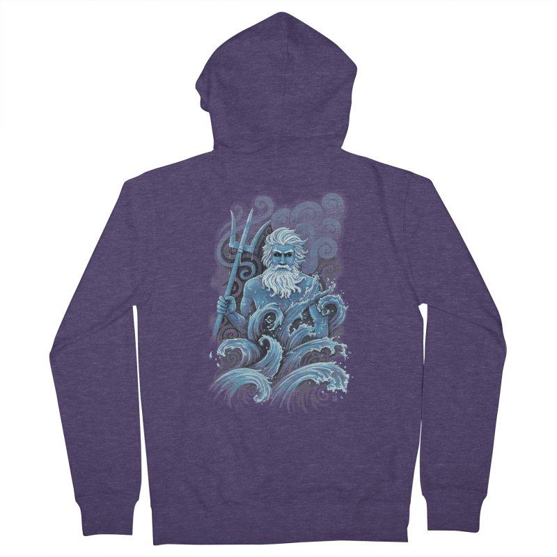 Poseidon Men's Zip-Up Hoody by c0y0te7's Artist Shop