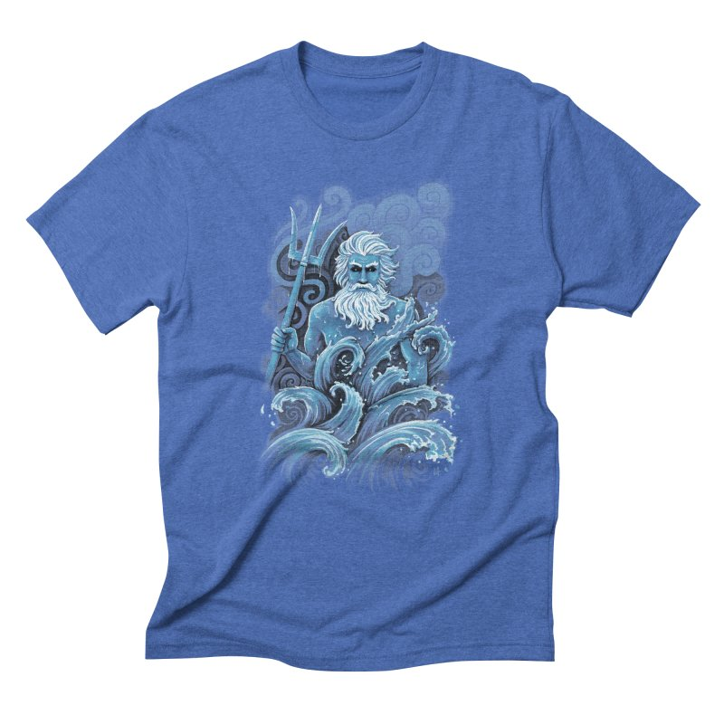 Poseidon Men's Triblend T-shirt by c0y0te7's Artist Shop