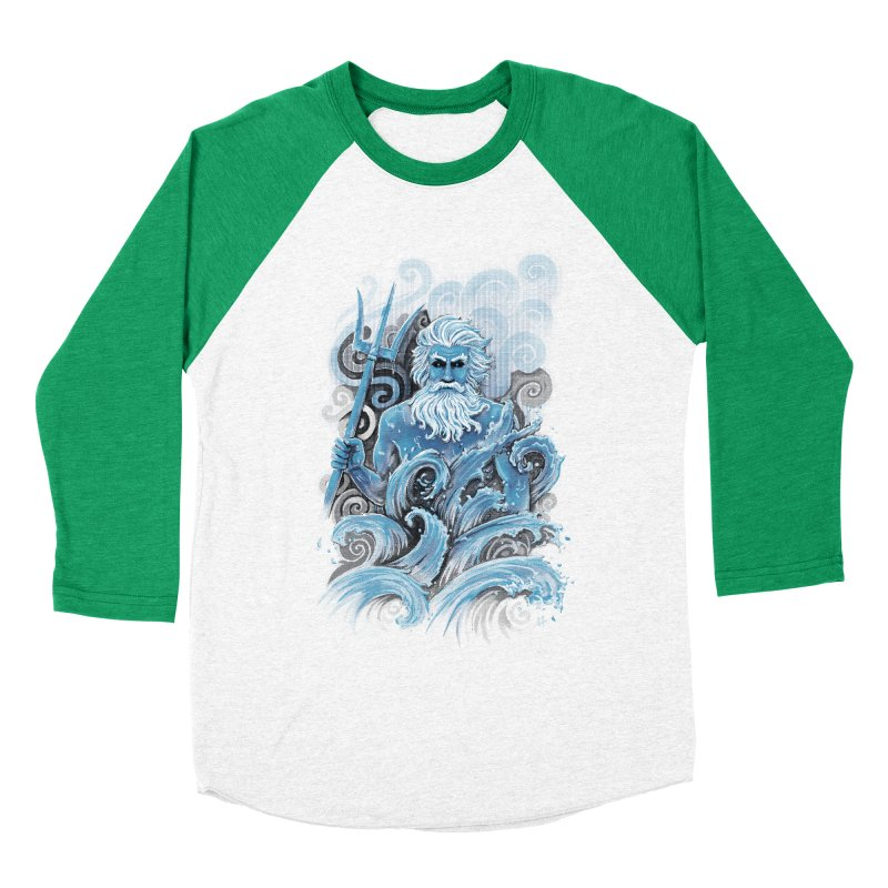 Poseidon Women's Baseball Triblend T-Shirt by c0y0te7's Artist Shop
