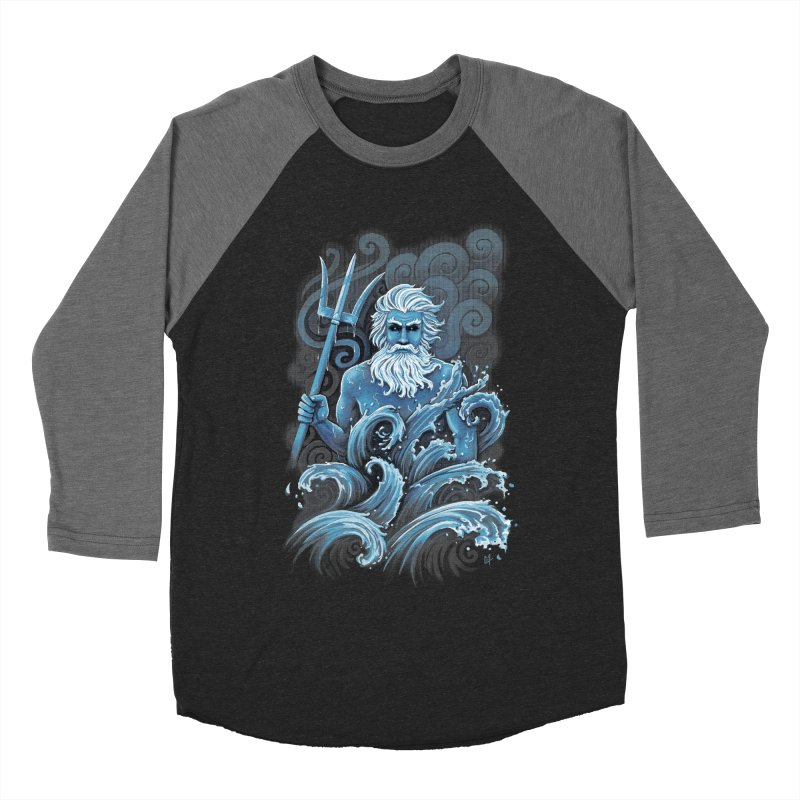 Poseidon Men's Baseball Triblend T-Shirt by c0y0te7's Artist Shop