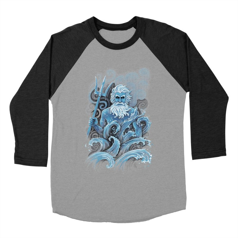 Poseidon Men's Baseball Triblend T-Shirt by c0y0te7's Artist Shop