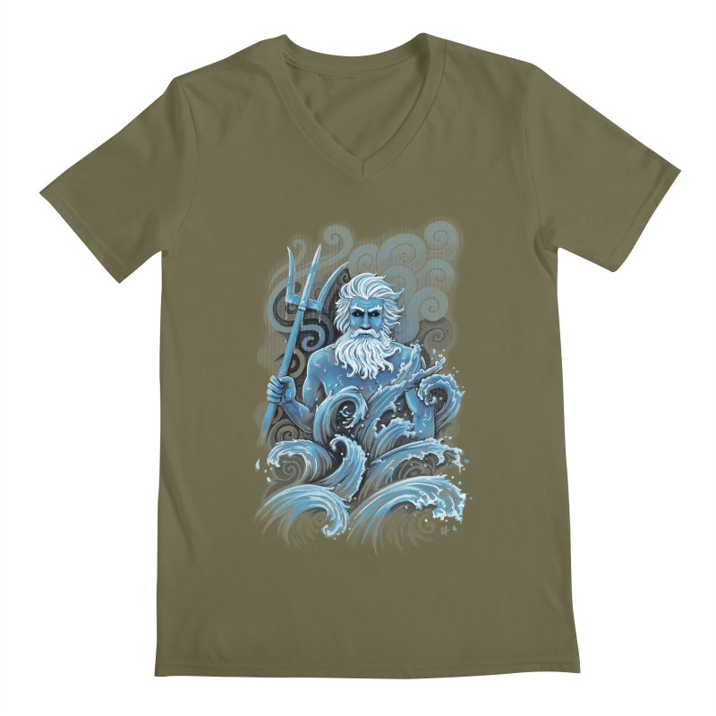 Poseidon Men's V-Neck by c0y0te7's Artist Shop