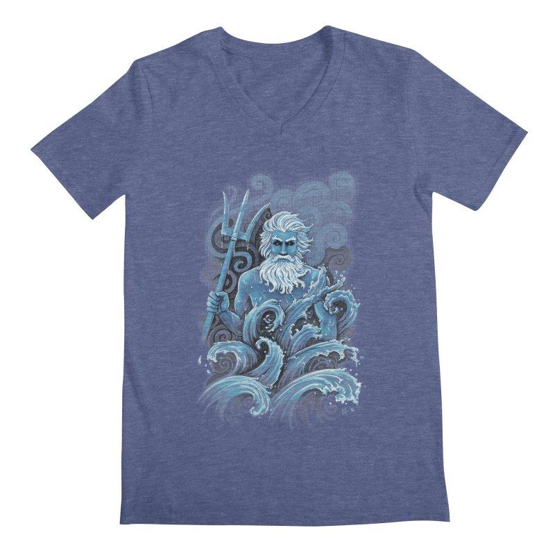 Poseidon Men's V-Neck by c0y0te7's Artist Shop