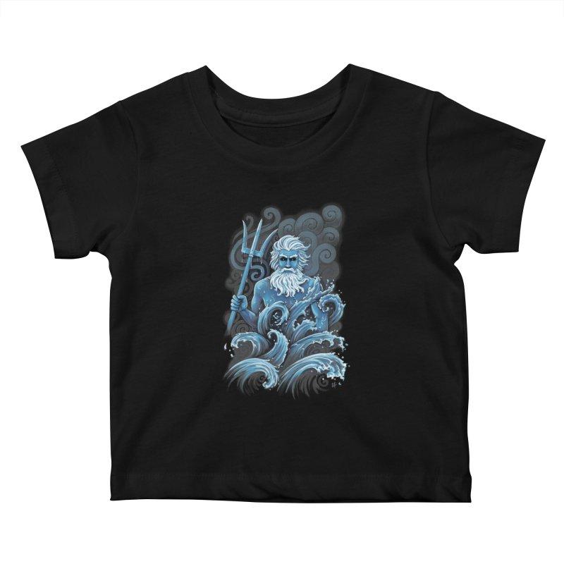 Poseidon Kids Baby T-Shirt by c0y0te7's Artist Shop