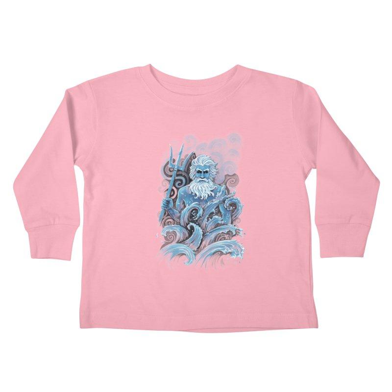 Poseidon Kids Toddler Longsleeve T-Shirt by c0y0te7's Artist Shop