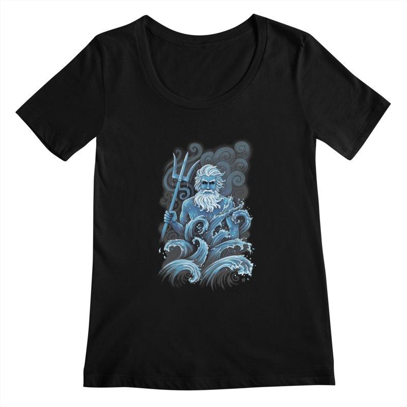 Poseidon Women's Scoopneck by c0y0te7's Artist Shop