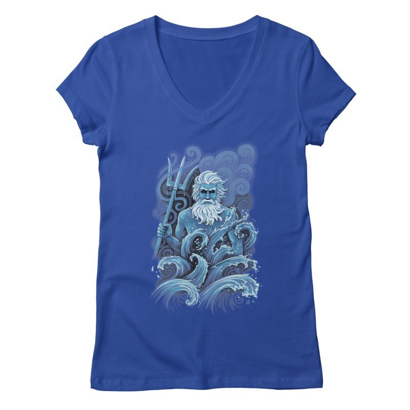 Poseidon Women's V-Neck by c0y0te7's Artist Shop