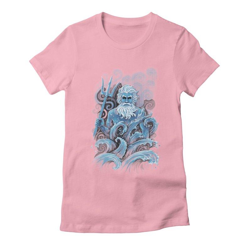Poseidon Women's Fitted T-Shirt by c0y0te7's Artist Shop