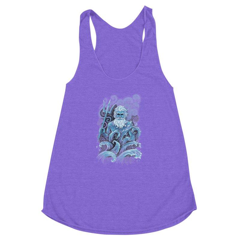 Poseidon Women's Racerback Triblend Tank by c0y0te7's Artist Shop