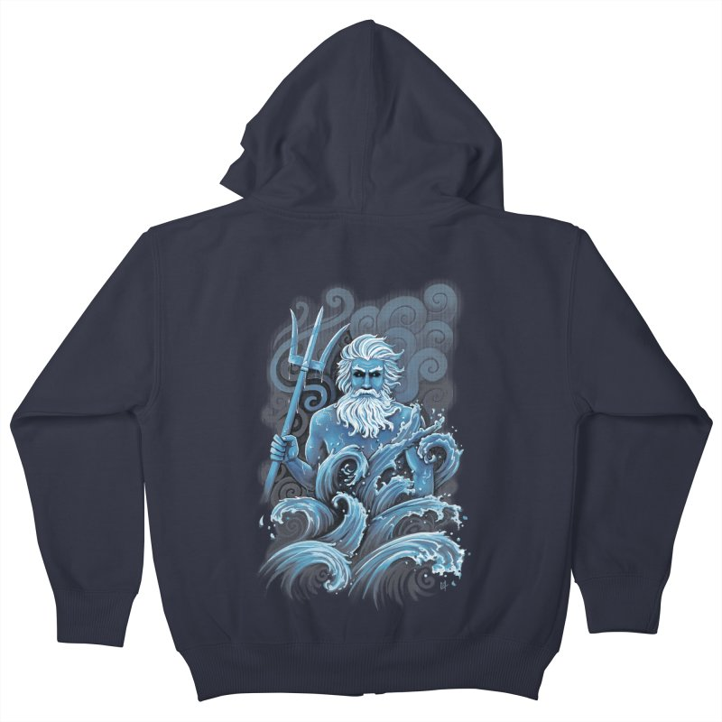 Poseidon Kids Zip-Up Hoody by c0y0te7's Artist Shop