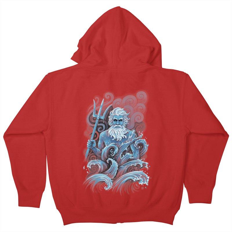 Poseidon Kids Zip-Up Hoody by c0y0te7's Artist Shop