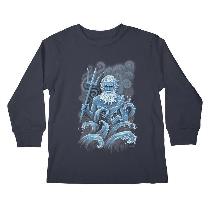 Poseidon Kids Longsleeve T-Shirt by c0y0te7's Artist Shop