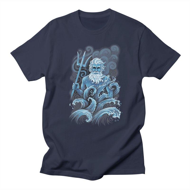Poseidon in Men's T-Shirt Navy by c0y0te7's Artist Shop