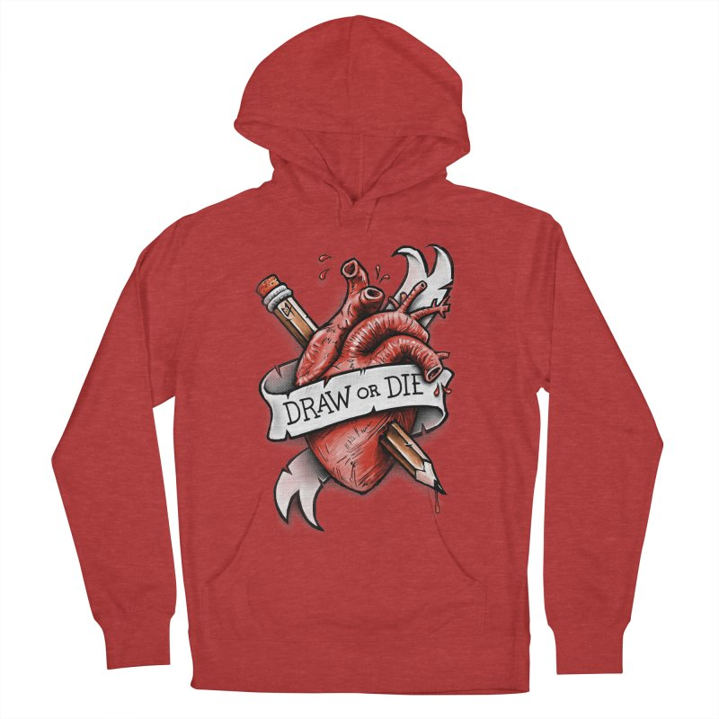 Draw or Die Women's Pullover Hoody by c0y0te7's Artist Shop