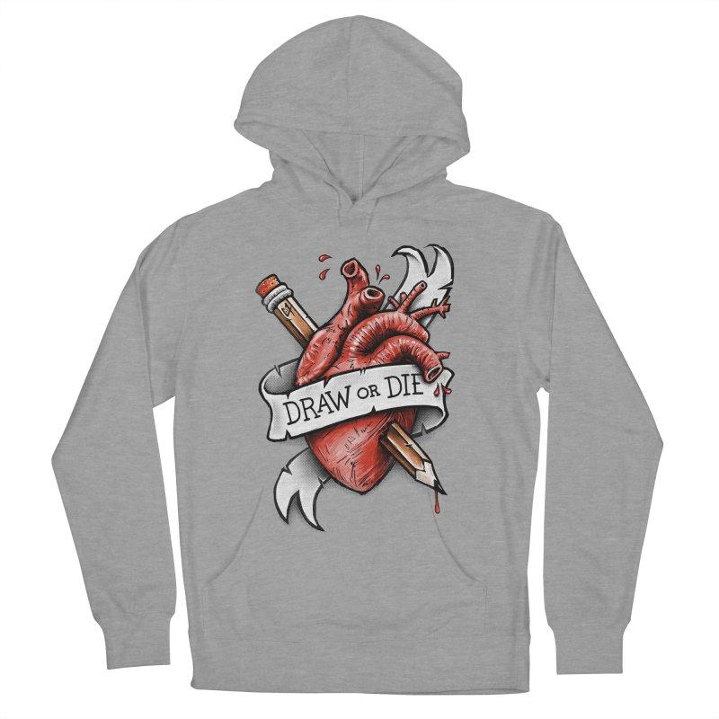 Draw or Die Men's Pullover Hoody by c0y0te7's Artist Shop