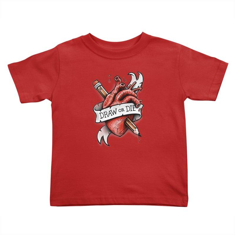 Draw or Die Kids Toddler T-Shirt by c0y0te7's Artist Shop