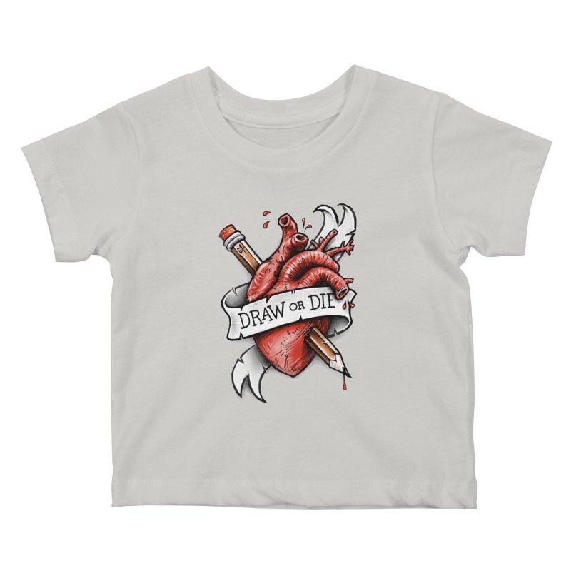 Draw or Die Kids Baby T-Shirt by c0y0te7's Artist Shop